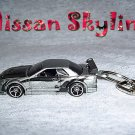 NISSAN SKYLINE CAR  KEYCHAIN & SWIVEL CLIP (FREE SHIPPING)