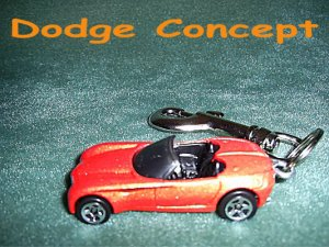 DODGE CONCEPT CAR  KEYCHAIN & SWIVEL CLIP (FREE SHIPPING)