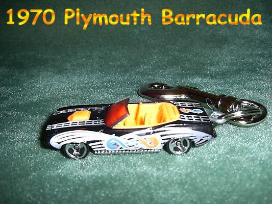 1970 PLYMOUTH BARRACUBA CAR  KEYCHAIN & SWIVEL CLIP (FREE SHIPPING)