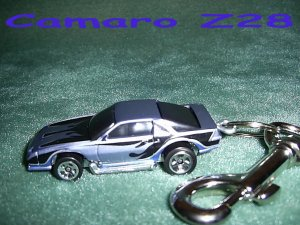 CAMARO Z28 CAR  KEYCHAIN & SWIVEL CLIP (FREE SHIPPING)