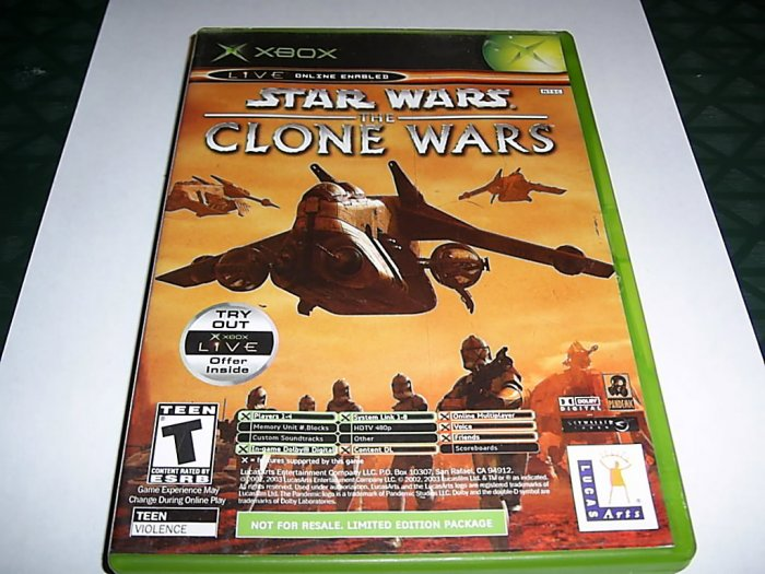 Star Wars Clone Wars (Xbox) FREE SHIPPING
