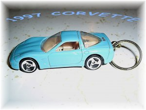 1997 Corvette Car Keychain (FREE SHIPPING)