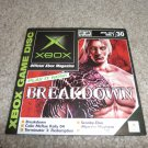 Demo Disk #30 (Xbox System) Breakdown FREE SHIPPING