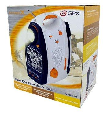 GPX® 3-WAY POWER AM/FM FLASHLIGHT TELEVISION