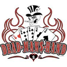 Dead Man's Hand Texas Holdem Poker T Shirt Tee Sizes Medium, Large, Xl, 2xl Style#7