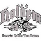 Live or Die By the River Funny Texas Holdem Poker T Shirt Tee Sizes Medium, Large, Xl, 2xl Style#12