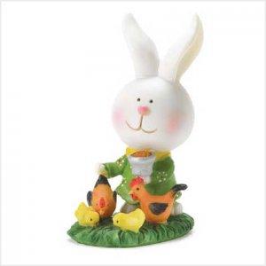 Bunny Farmer Figurine