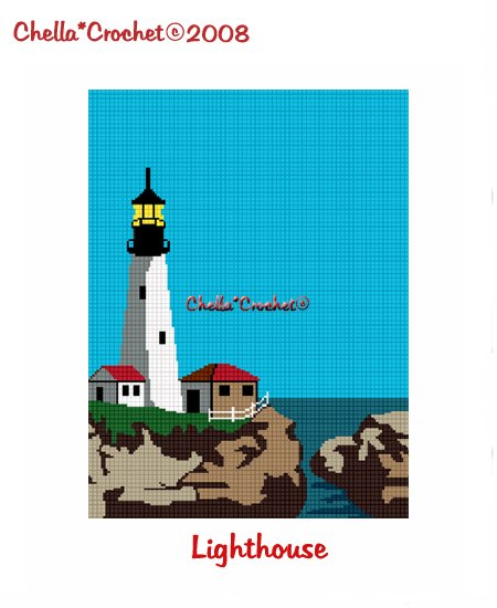 CHELLA*CROCHET Lighthouse Afghan Crochet Pattern Graph Emailed to you