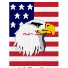 Chella Crochet Eagle on American United States Flag Afghan Crochet Pattern Graph Emailed