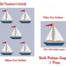 CHELLA*CROCHET SailboatS Afghan Pattern and Sailboat Pillow Pattern Graph Crochet .PDF EMAILED