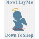 CHELLA*CROCHET Now I Lay Me Down To Sleep Angel boy Afghan Crochet Pattern Graph