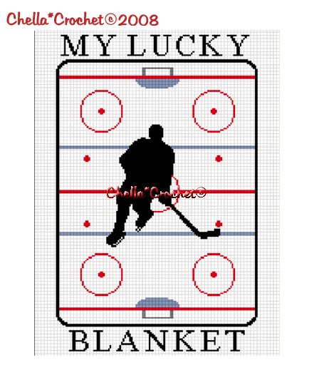 CHELLA*CROCHET MY LUCKY HOCKEY BLANKET AFGHAN CROCHET PATTERN GRAPH EMAILED .PDF