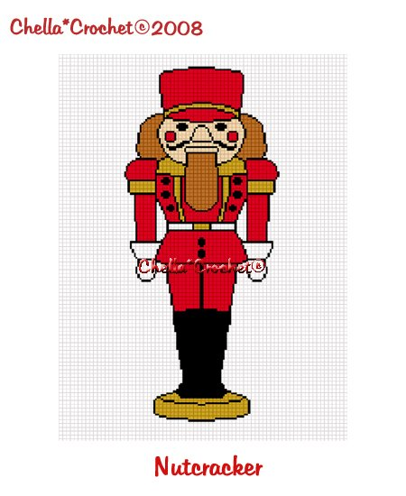 CHELLA*CROCHET Christmas Nutcracker Soldier Afghan Pattern Graph Crochet EMAILED .PDF