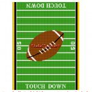 CHELLA*CROCHET TOUCH DOWN FOOTBALL Field Afghan Crochet Pattern Graph EMAILED .PDF
