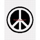CHELLA*CROCHET Peace Sign Symbol Afghan Crochet Pattern Graph EMAILED .PDF