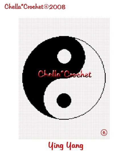 CHELLA*CROCHET YING YANG Afghan Crochet Pattern Graph Emailed .PDF