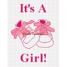 Chella*Crochet It's A Girl Baby Shoes Afghan Crochet Pattern Graph