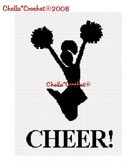Chella*Crochet Cheerleader Cheer! Sil Afghan Crochet Pattern Graph