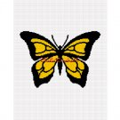 Chella*Crochet Butterfly Black and Yellow Afghan Crochet Pattern Graph