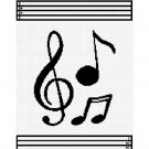 Chella*Crochet Musical Notes Music Afghan Crochet Pattern Graph