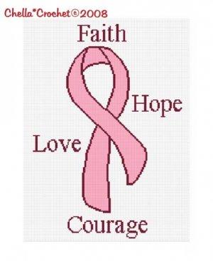 Breast  Ribbon Afghan Pattern-Wiki Finder