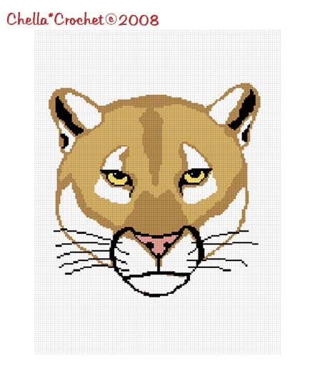 SALE see SHOP for details Big Cat Cougar Puma Mountain Lion Afghan Crochet Pattern Graph