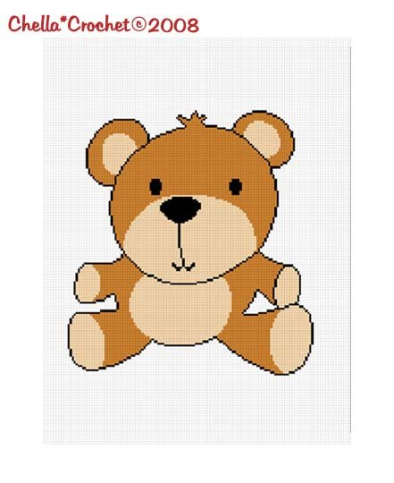 SALE see SHOP for details Baby Brown Teddy Bear Afghan Crochet Pattern Graph