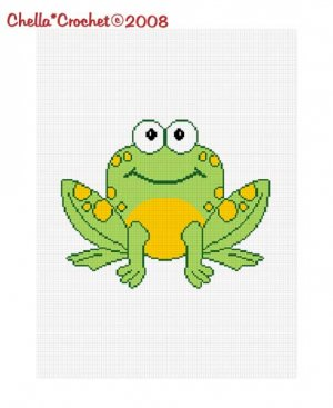 Sale See Shop for Details Chella Crochet Sitting Frog Afghan Crochet Pattern Graph