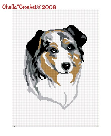 Sale See Shop for Details Chella Crochet Australian Shepherd Aussie Dog Afghan Crochet Pattern Graph