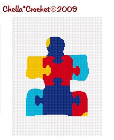 Sale See Shop Jigsaw Puzzle Piece Afghan Crochet Pattern Graph Scrap