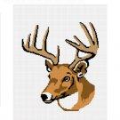 Deer Buck Stag Antlers Head Afghan Crochet Pattern Graph Chart .PDF