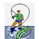 SALE see store!! Chella Crochet Fly Fishing Bass Fish Afghan Crochet Pattern Graph