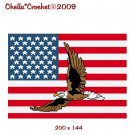 Chella Crochet Flying Eagle on American United States Flag Afghan Crochet Pattern Graph Emailed