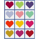 SALE see store!! Chella Crochet Easy Hearts use Scraps Afghan Crochet Pattern Graph