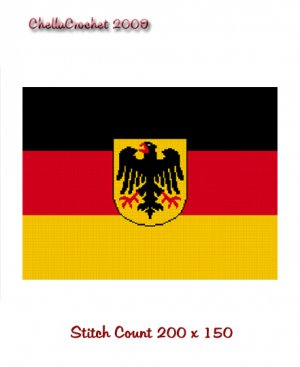 Sale See Details Chella Crochet German Flag Afghan Crochet Pattern Graph