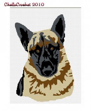 BUY 2 GET 1 FREE Chella Crochet German Shepherd Dog Afghan Crochet Pattern Graph