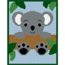 Chella Crochet Baby Koala Bear In Tree Afghan Pattern Graph Blanket Throw