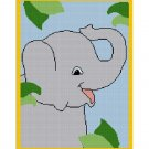 Chella Crochet LARGE Baby Elephant on Safari Jungle Afghan Pattern Graph Blanket Throw