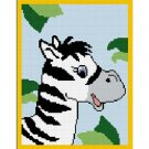 Baby Zebra in Jungle Afghan Crochet Pattern Graph 100st