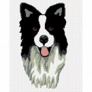 Border Collie Dog  Afghan Crochet Pattern Graph