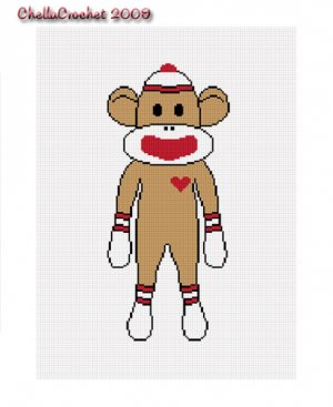 PDF Crochet Pattern Sock Monkey Hat with by sockmonkeykook on Etsy
