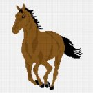 Brown Horse Stallion Mare Afghan Crochet Pattern Graph