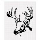 Deer Buck Stag Silhouette Afghan Crochet Pattern Graph