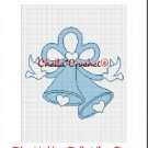 Blue Wedding Bells Doves  Afghan Crochet Pattern Graph