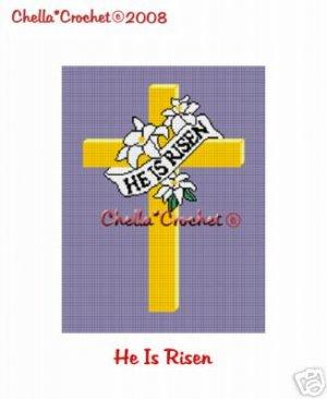 He Is Risen Cross  Afghan Crochet Pattern Graph