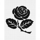 Rose Silhouette Easy Afghan Crochet Pattern Graph