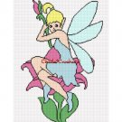 Fairy Pixie on Flower Afghan Crochet Pattern Graph