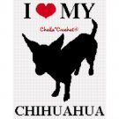 Love My Chihuahua Dog Afghan Crochet Pattern Graph