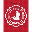 Firefighter Maltese Cross Afghan Crochet Pattern Graph