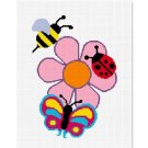 Ladybug, Bee, Butterfly Afghan Crochet Pattern Graph